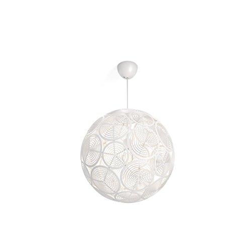 Philips Lighting Lampada a Sospensione Smart Volume Ring, Design Moderno, Bianco, 50 x 50 x 208 cm