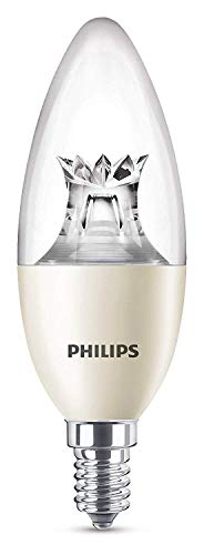 Philips Lighting Lampadina LED Warmglow Oliva, Luce Regolabile Calda, Attacco E14, 8 W Equivalenti a 60 W