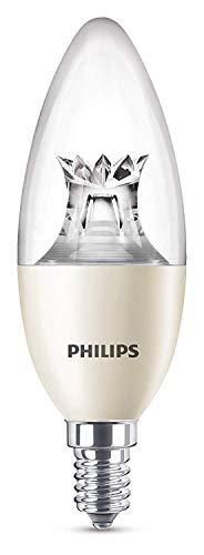 Philips Lighting Lampadina LED Warmglow Oliva, Luce Regolabile Calda, Attacco E14, 8 W Equivalenti a 60 W