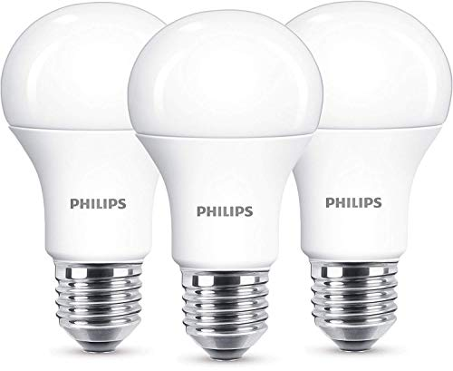 Philips Lighting Lampadine Attacco E27, 13 W Equivalenti a 100 W, Luce calda, Non Dimmerabile, 3 Pezzi