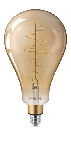 Philips Lighting LEDFIL40GD Lampadina LED Globo in Vetro Filamento 40W E27 Dimmerabile, Bronzo