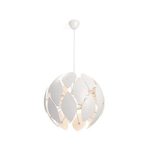 Philips Lighting Smart Volume Chiffon Lampada a Sospensione, Design Moderno E27, Bianco, 60 cm