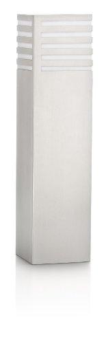 Philips Lighting Veranda Palo Basso da Esterno, Alluminio Grigio, 10 x 10 x 40 cm, Lampadina Inclusa