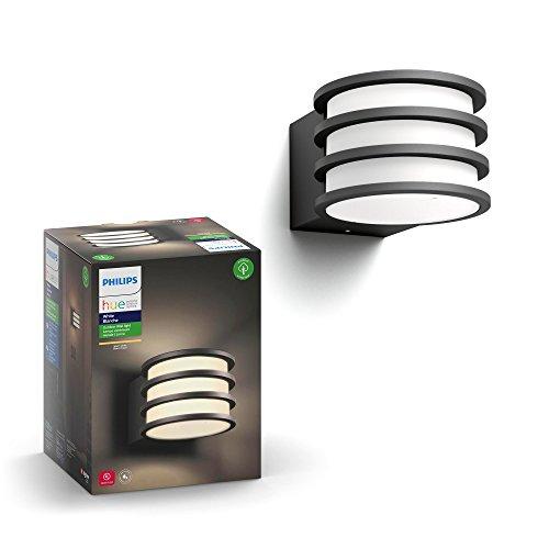 Philips Lighting White Lucca Lampada da Parete da Esterno E27, 9.5 W, Antracit