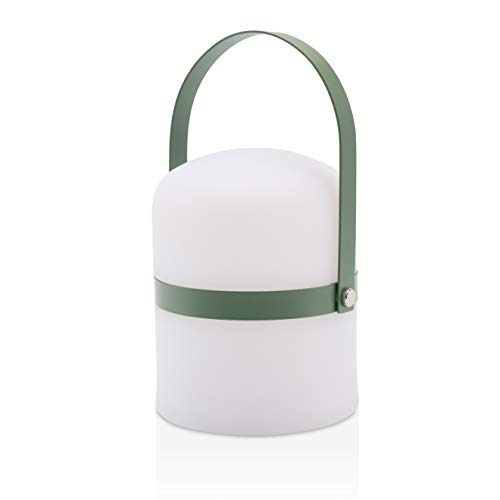 Piccola lampada da tavolo design scandinavo, luce, soggiorno accessori, lampada da giardino a LED per esterni, luce a LED, terrazza, lanterna interni, esterno, dimmerabile, ricaricabile, USB, verde