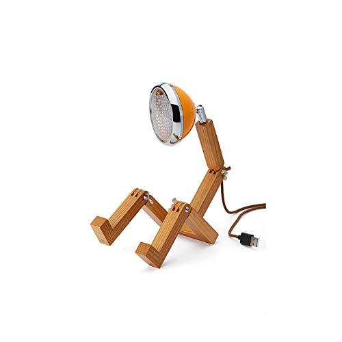 Piffany Mini Mr. Wattson Lampada da Tavolo a LED, Design Elegante e minimale, Lega di Alta qualità a Legno di Frassino - MC Laren Orange