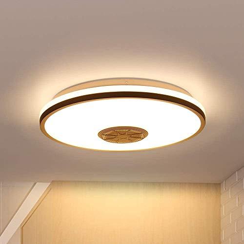 Plafoniera a LED con altoparlante Bluetooth 36W, RGB cambia colore con APP e telecomando Lampade ad alta luminosità moderne Lampade da camera da letto Lampada da soffitto Lampade da festa