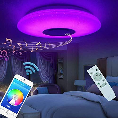 Plafoniera a LED Intelligente Musica Plafoniere LED RGB Dimmerabile Lampada da soffitto 60W con Altoparlante Bluetooth APP telecomando