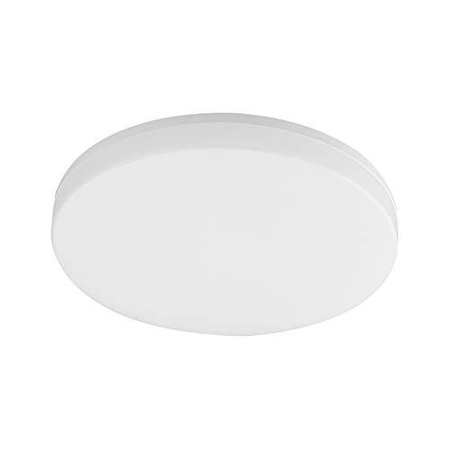 Plafoniera a LED Tellur WiFi, 24 W, 2400 Lumen, Freddo/Caldo, Dimmer di intensità, Controllabile tramite app, Compatibile con Alexa & Google Home, Senza hub necessario, Rotondo, D: 33 cm, Bianco