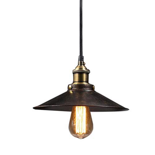 Plafoniera in Metallo E27 Lampadario Industriale Vintage Lampade a Sospensione da Soffitto Moderni Lampadario Per Cucina Soggiorno Sospensione-Rust,28cm