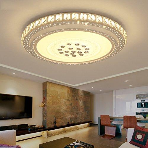 Plafoniera LED 72W dimmerabile con telecomando, plafoniera effetto cristallo,5760LM, Lampada da soffitto senza sfarfallio Lampada da camera da letto per soggiorno Hotel Sala da pranzo Corridoio
