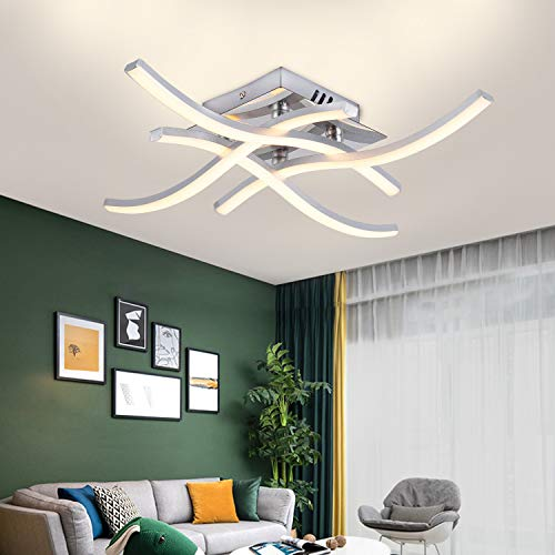 Plafoniera LED, Lampada Lampadario Plafoniera dal Design Moderno, 4000k Bianco Caldo, 24W 2.000Lm, Lampada da Soffitto Per Soggiorno Camera da letto Sala da Pranzo, 200V (Bianco caldo)