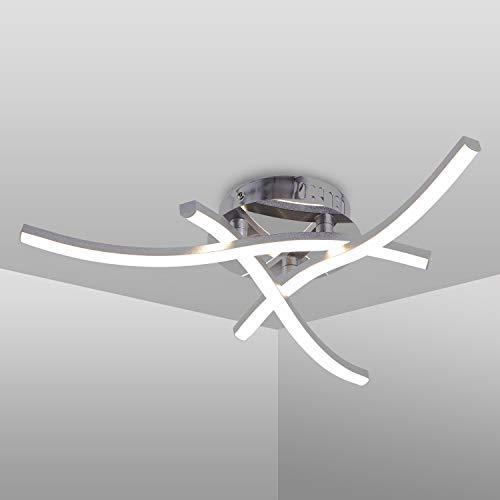Plafoniera LED Soffitto, Lampadario soggiorno, luce bianca neutra 4000K, LED integrati 18W 1.600Lm, lampada da soffitto moderna per camera da letto soggiorno ristorante scala, 220V IP20