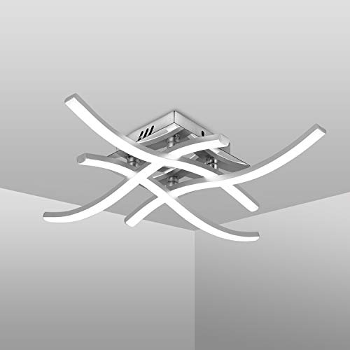 Plafoniera LED Soffitto, Lampadario soggiorno, luce bianca neutra 4000K, LED integrati 24W 2.000Lm, lampada da soffitto moderna per salotto o cucina, 230V IP20