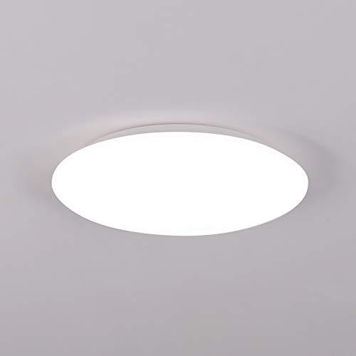 Plafoniera LED Soffitto Moderna 12W Plafoniere da Soffitto Bianco Freddo 6500K Ultra Magro Pannello LED Rotondo Ø24CM 1020LM IP44 Lampada da Soffitto per Corridoio, Bagno, Camera da lett