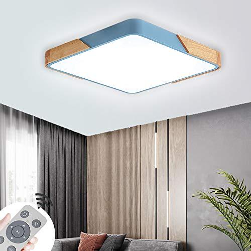 Plafoniera LED ultra sottile 60W dimmerabile Soffitto Lamp led luce quadrata per cucina soggiorno o sala da pranzo blu 100V-265V 50HZ [Classe di efficienza energetica A++]