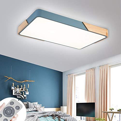 Plafoniera LED ultra sottile 72W dimmerabile Soffitto Lamp led luce quadrata per cucina soggiorno o sala da pranzo blu 100V-265V 50HZ [Classe di efficienza energetica A++]