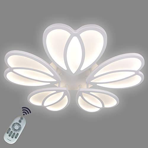Plafoniera moderna, Ganeed Lampada da soffitto a LED dimmerabile da 80W con telecomando, moderna lampada da soffitto, lampadario a LED a fiori per la cucina della sala da pranzo della camera da letto