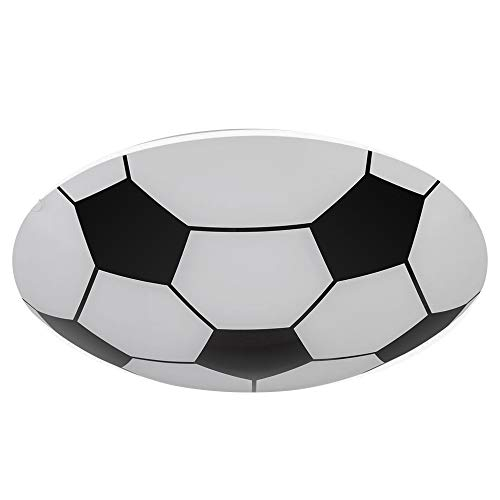 Plafoniera Pallone da Calcio Led Lampadario Camera Ragazzi Cameretta Sala Giochi Da Appendere A Soffitto e Muro D.36