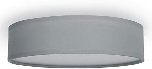 Plafoniera Ranex 6000.544 Mia - 40 cm - Grigio, metallo;metallo/tessuto/plastica