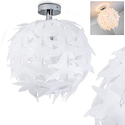 Plafoniera Rotonda Modello Dokkas- Lampada da Soffitto Paralume Tessuto- Design Moderno Originale Ideale per Salotto Sala da Pranzo Camera da Letto Ingresso