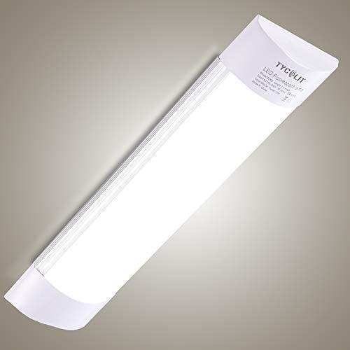 Plafoniere Led Soffitto 90cm, Bellanny 30W 3600LM Ultraslim Lampadario LED, 4500K Bianco neutro Plafoniere da soffitto, Plafoniera neon per Garage Officina Ufficio Bagno Magazzino