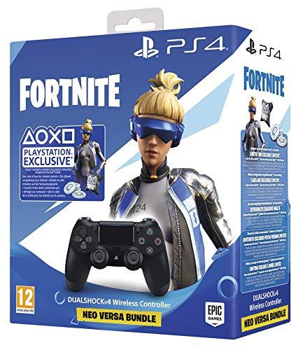 PlayStation 4 - Dualshock 4 V2+ Fortnite VCH (2020) - Bundle - PlayStation 4, Nero
