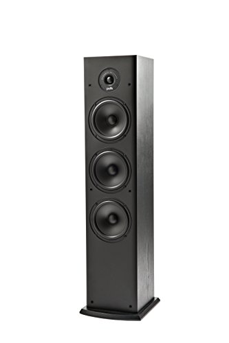 Polk Audio T50 - Altoparlante da Pavimento, 4 Vie, Colore Nero