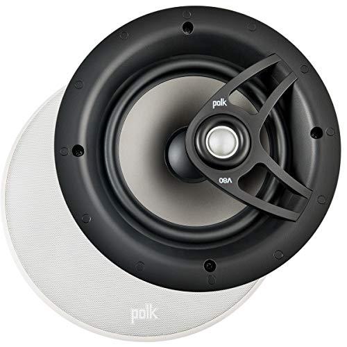 Polk Audio V 80ad alte prestazioni del soffitto di altoparlanti da incasso, Bianco