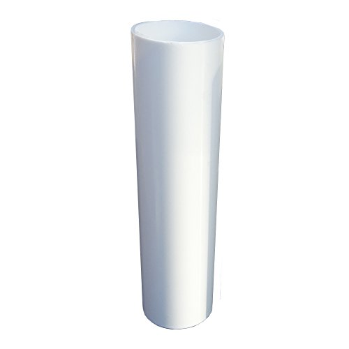 Portalampada E14, 3 pezzi, lunghezza 100 mm, ø 26,5 mm, in plastica liscia, colore bianco, per portalampada