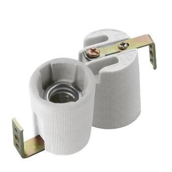 Portalampada in ceramica da 230V con presa HLDR- E14- F