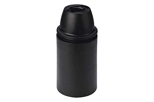 Portalampada in Plastica - Attacco E14 - Camicia Liscia. Confezione 6 Pezzi. (Nero)