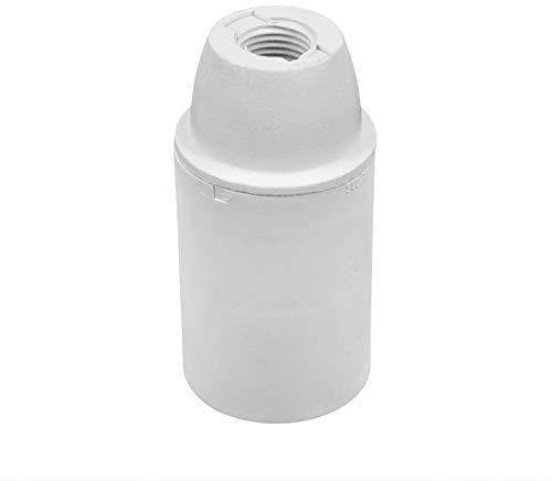 Portalampada in Plastica - Attacco E14 - Camicia Liscia. Confezione 6 Pezzi. (Bianco)