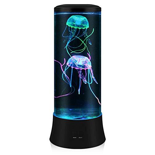 POYO Lampada lava a LED fantasy medaglie, rotonda, vera medusa per acquario, 7 colori di regolazione, luce d'atmosfera, decorazione per la casa, ufficio, regalo perfetto per bambini