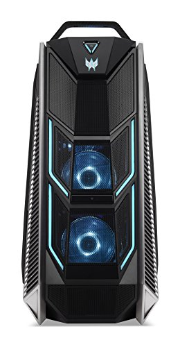 Predator Orion 9000 Desktop Gaming con Processore Intel Core i9 7900X, RAM da 32 GB DDR4, 256 GB SSD, 2 TB HDD, Scheda Grafica Nvidia GTX-1080 Ti 11GB, Wireless Lan, Windows 10 Home, Nero