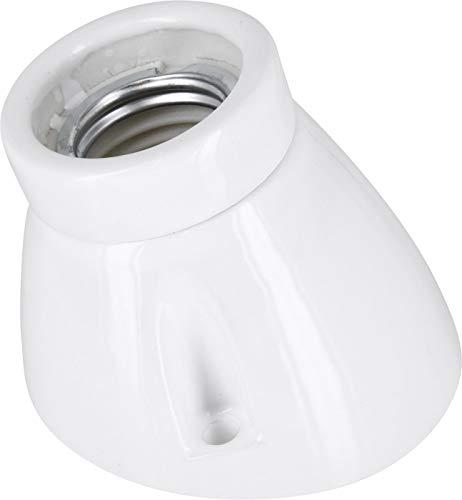 Premium lampada da incasso E27 230 V porcellana ceramica – angolata – High Frequency – max. 1000W - Vernice bianca