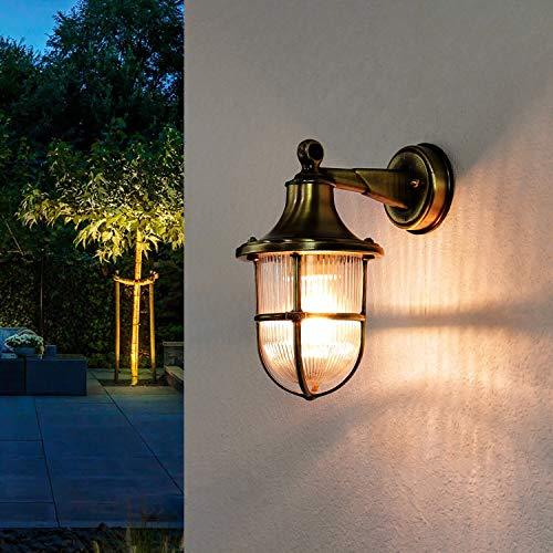 Premium lampada da parete in ottone E27max 18W 230V giardino lampada lampada da giardino cortile lampada da parete applique esterno