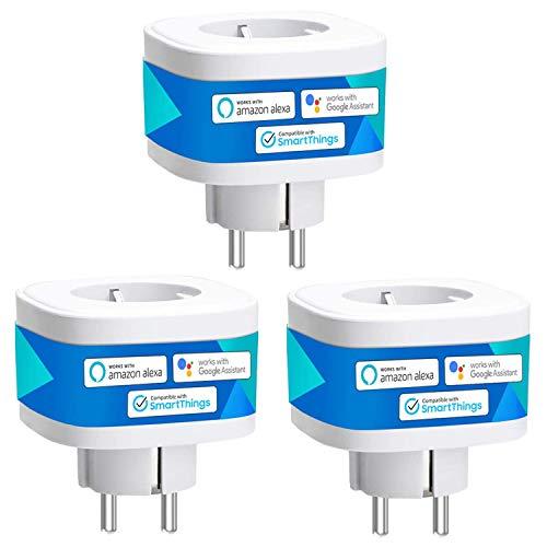 Presa Intelligente Wifi Smart Plug Spina Wireless 16A 3680W, Funzione Timer, Compatibile con SmartThings, Alexa, Google Assistant e IFTTT (3)