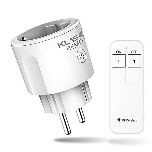 Presa Telecomando,Presa Intelligente RF Wireless Smart Plug, Presa Smart con 1 Controllo Remoto Interruttore di Comando a Distanza da 30 m