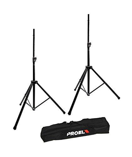 Proel FRE300KIT Coppia di Supporti in Alluminio per Casse Acustiche Monitor Speakers + Bag/Borsa per trasporto