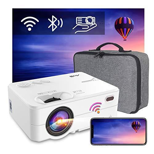 """Proiettore Bluetooth, Videoproiettore Artlii Enjoy2 - 6000 Lm Mini Proiettore Portatile Nativo 720P, Supporta 1080P, 300"""" Home Cinema Proiettore per Smartphone/TVbox/TV Stick/Laptop/PC/PS4"""