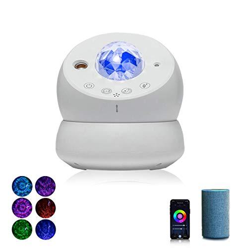 Proiettore LED cielo stellato, luce notturna per camera da letto dei bambini, luna cielo stellato, proiettore con timer e controllo app, compatibile con Alexa/Google Assistant