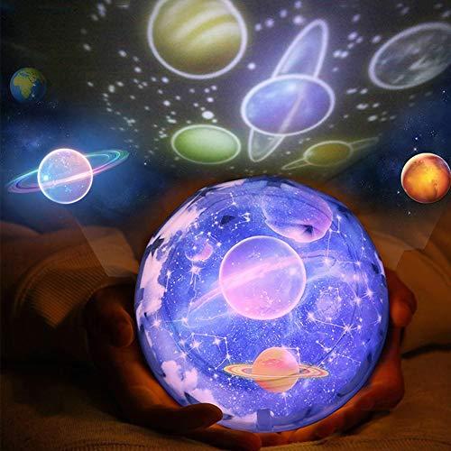 Proiettore luce notturna bambini Stelle Lampada, 360° Rotante Pianeta Terra Mare Led Proiettore, Alimentato USB/batterie azionate, Per Bambino Camera Regalo Compleanno Partito