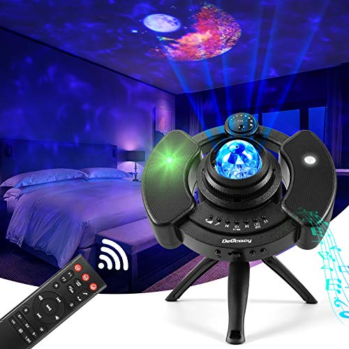 Proiettore Nebula Delicacy Proiettore di Lampade Moon Proiettore Stellato Bluetooth, LED 360° Luce Rotante Nebulosa con Timer e Telecomando, per Bambini/Adulti/Regalo/Feste/Natale/Decorazioni