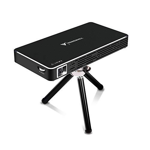 Proiettore Portatile, Tenswall DLP Mini LED Proiettore, Videoproiettore Smart Theater Domestico 1080P Full HD con l'ingresso di HDMI per il iPhone/Android/Gaming/Laptop/TV Box …