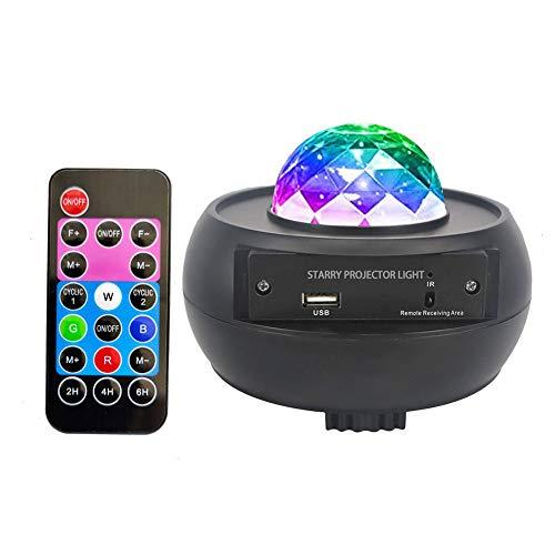 Proiettore stellato, luce notturna LED 10 colori cielo stellato lampada di proiezione con telecomando altoparlante Bluetooth, per feste di compleanno camera da letto palcoscenico decorazioni