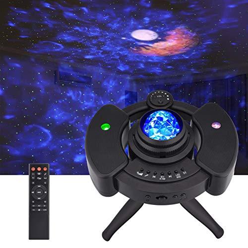 Proiettore Stelle Soffitto, Lampada Galassia UFO, Proiettore Cielo Stellato con Controllo Vocale/Telecomando, LED Luce a Luna/Onda/Acqua Romantica con Musicale Altoparlante Bluetooth, Regalo Bambini