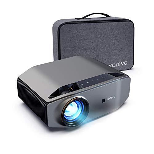 """Proiettore, Vamvo L6200 Videoproiettore Full HD Nativo 1080p 7000 Lux con Dolby, Display Max 300"""", Ideale per Home Theater, Intrattenimento, PPT Business, Compatibile PS4/HDMI/VGA/USB"""