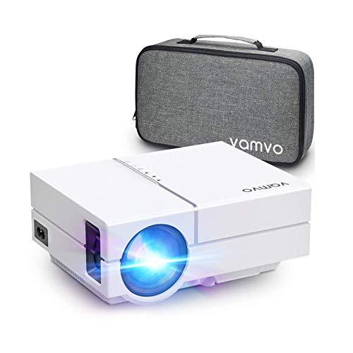 Proiettore Vamvo Videoproiettore L4500 Full HD 1080p Native con Dolby, Mini Proiettore Portatile 5000 Lux, Ideale per Home Theater, PPT Businesscon con TV Stick, HDMI/ VGA/ USB 2.0/ AV