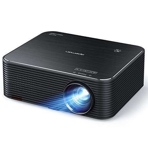 """Proiettore, Videoproiettore APEMAN Full HD Nativo 1080P, Supporto 4K, Schermo Video LCD da 300 """", Correzione Trapezoidale Elettronica Remota, Compatibile HDMI/USB/telefono/PC/PS4 per Home Cinema"""